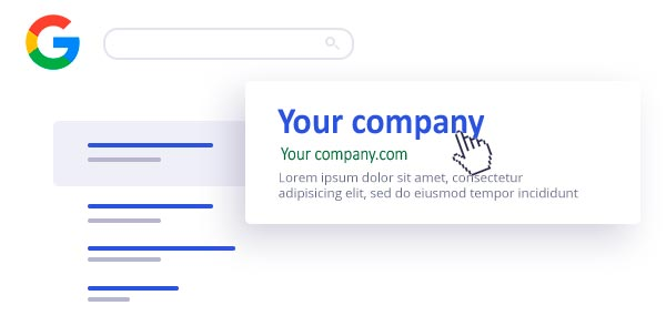 Your company on Google